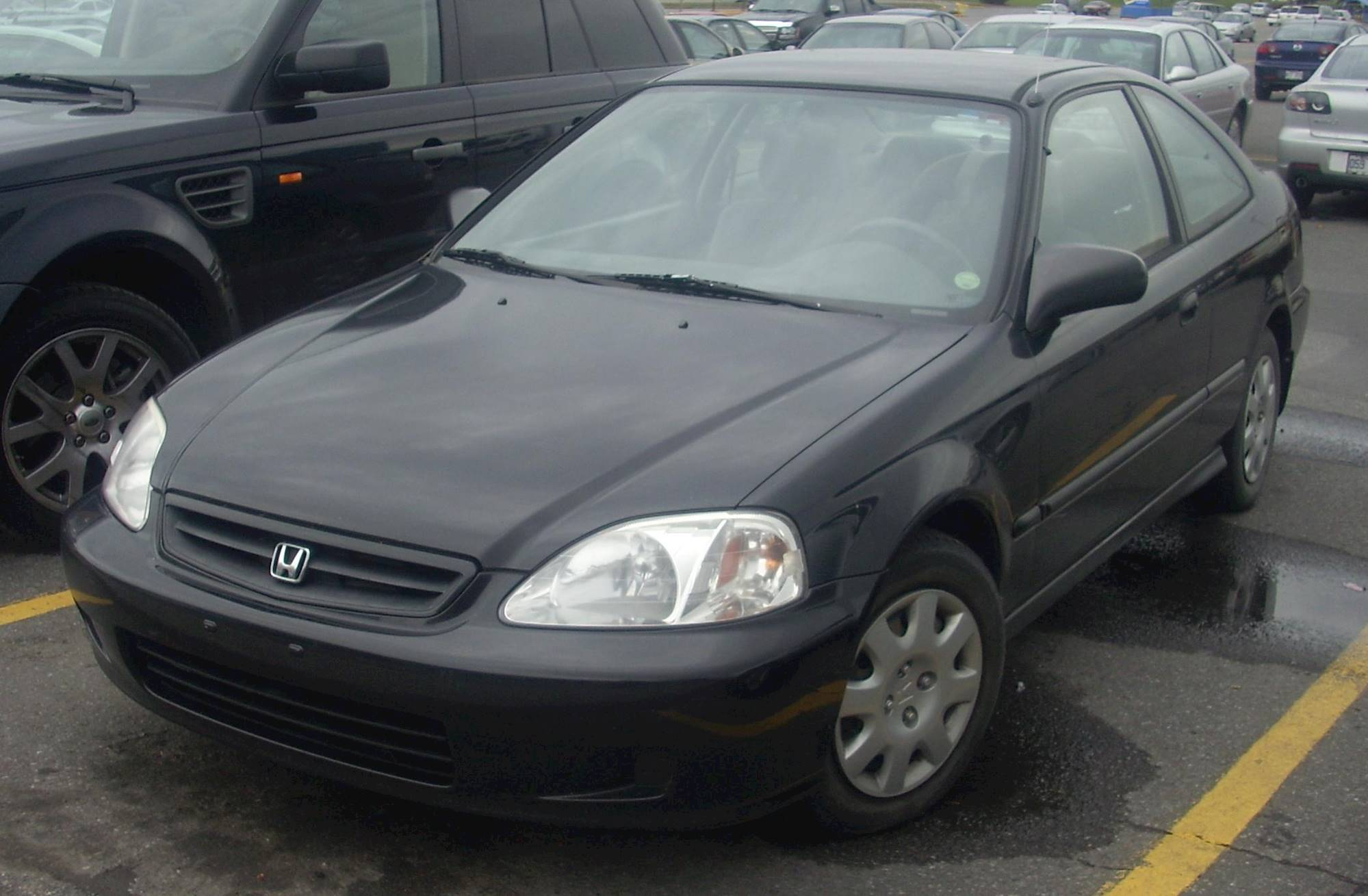 ... File:1999-2000 Honda Civic Coupe.JPG - Wikimedia Commons 2000 Honda  Civic Hatchback ...